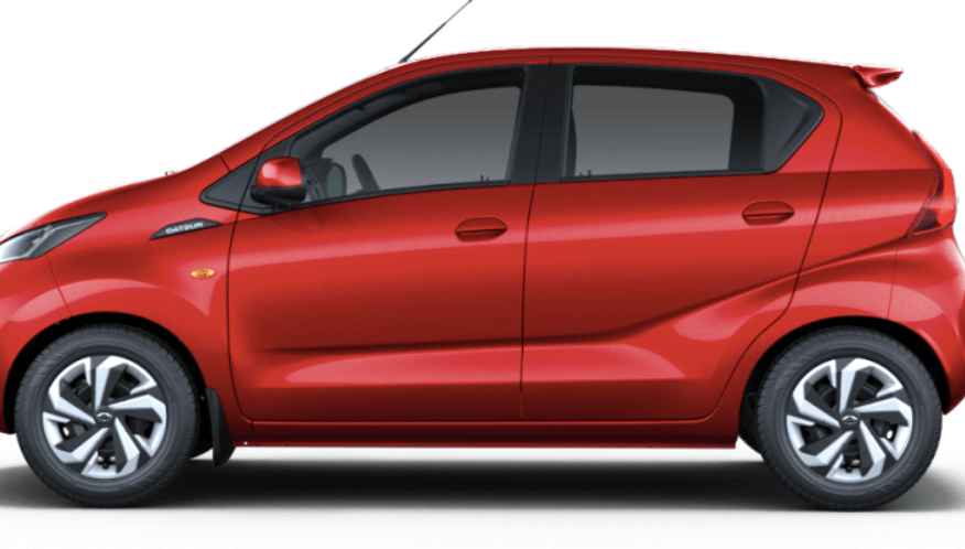Datsun-RediGo-sideview-Buy-your-car-Online-Neo-Nissan-Leading-Dealer-in-Delhi/NCRs-red